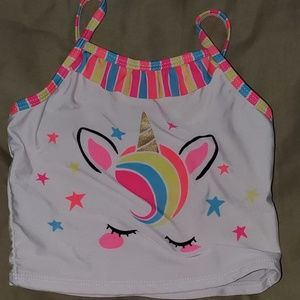 2 PC toddler unicorn Bathing suit